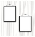 blank frames on wood background vector image vector image
