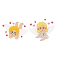 Boy and girl cupid angel characters Valentines Day vector image vector image