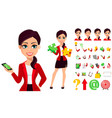 businesswoman cartoon character beautiful woman vector image vector image