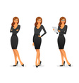 Businesswoman in various poses vector image
