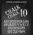 chalk english alphabet vector image vector image