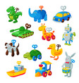 clockwork toy key mechanic playroom toyshop vector image vector image