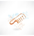 Comb grunge icon vector image