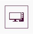 computer icon simple vector image