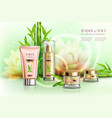 cosmetics advertising composition vector image vector image