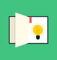 creative thinking idea concept flat design vector image