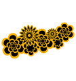 decorative asian flowers vector image vector image