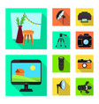 design photoshoot and work icon set vector image vector image