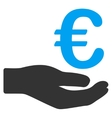 Euro Donation Icon vector image