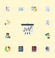 flat icons bookkeeper pie bar tactics and other vector image vector image