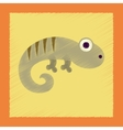 flat shading style icon lizard reptile vector image vector image