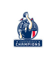 Football Conference Champions New England Retro vector image vector image
