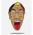 football fan from belgium vector image vector image
