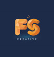 fs letter with origami triangles logo creative vector image vector image
