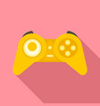 gaming controller icon flat style vector image vector image