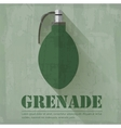 grunge military grenede icon background concept vector image vector image
