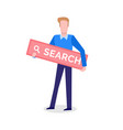 internet search sign look for button browsing vector image vector image