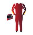 isolated racing uniform vector image vector image
