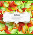 light autumn seasonal poster vector image vector image