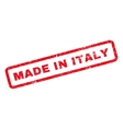 Made In Italy Rubber Stamp vector image