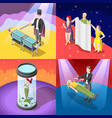 magic show isometric concept vector image