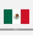 mexico mexican national country flag banner icon vector image vector image
