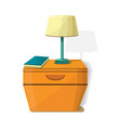 night stand lamp icon cartoon style vector image