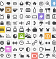 Pixel web icons collection vector image vector image