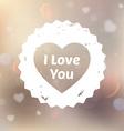 Romantic Love Heart vector image vector image