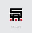sa - initials or logo a and s - monogram vector image vector image