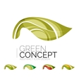 Set of abstract eco plant icons business logotype vector image vector image