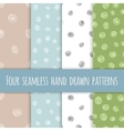 Set of abstract seamless ink patterns vector image vector image