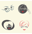 Set of emblems with glasses vector image vector image