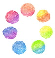 set rainbow dotted circles vector image