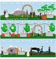 set wedding posters banners in flat vector image vector image