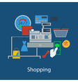 Shopping flat design vector image vector image
