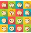 Smiles faces icons set flat style vector image vector image