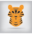 Stylized silhouette of a tiger vector image