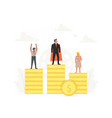 successful businessman and businesswoman on podium vector image vector image