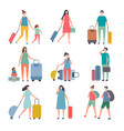 summer travellers stylized characters happy vector image vector image