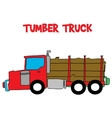 Timber truck with hand draw vector image