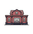 Two-story suburban house with porch and columns vector image