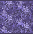 violet pattern with mess of fern tropical leaves vector image vector image