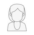 woman avatar profile vector image