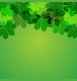 abstract autumn leaves on green background vector image vector image