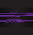 abstract purple cyber polygon on black vector image vector image