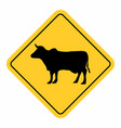 animals traffic sign vector image vector image