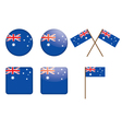badges with flag of Australia vector image