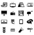 black advertisement icon set vector image vector image
