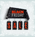 black friday sale curved paper banner with black vector image vector image